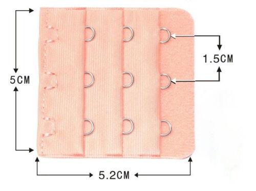 Bra Extender 3 Hook Ladies Bra Extension Strap Underwear Strapless