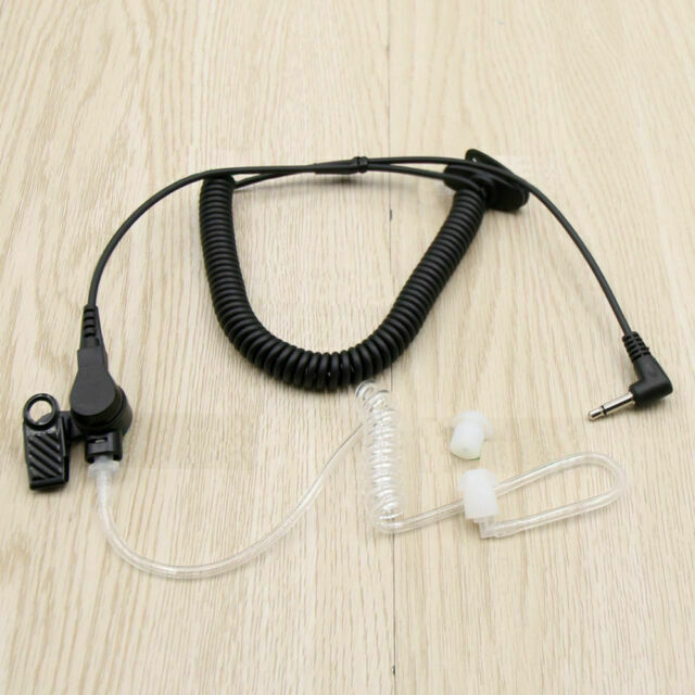 For Kenwood Speaker Shoulder Lapel Microphone 3.5MM Listen Only Coiled Ear Piece