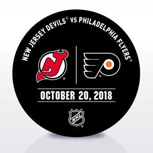 Philadelphia-Flyers-Issued-Unused-Warm-Up-Puck-10-20-18-Vs-New-Jersey-Devils