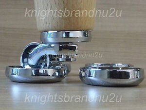 CASTOR-COASTERS-SOLID-CHROME-FURNITURE-GLIDES-FLOOR-PROTECTOR-SOFA-CHAIRS-SETTEE