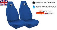BMW ALPINA CAR SEAT COVERS PROTECTORS X2 100% WATERPROOF / HEAVY DUTY / BLUE