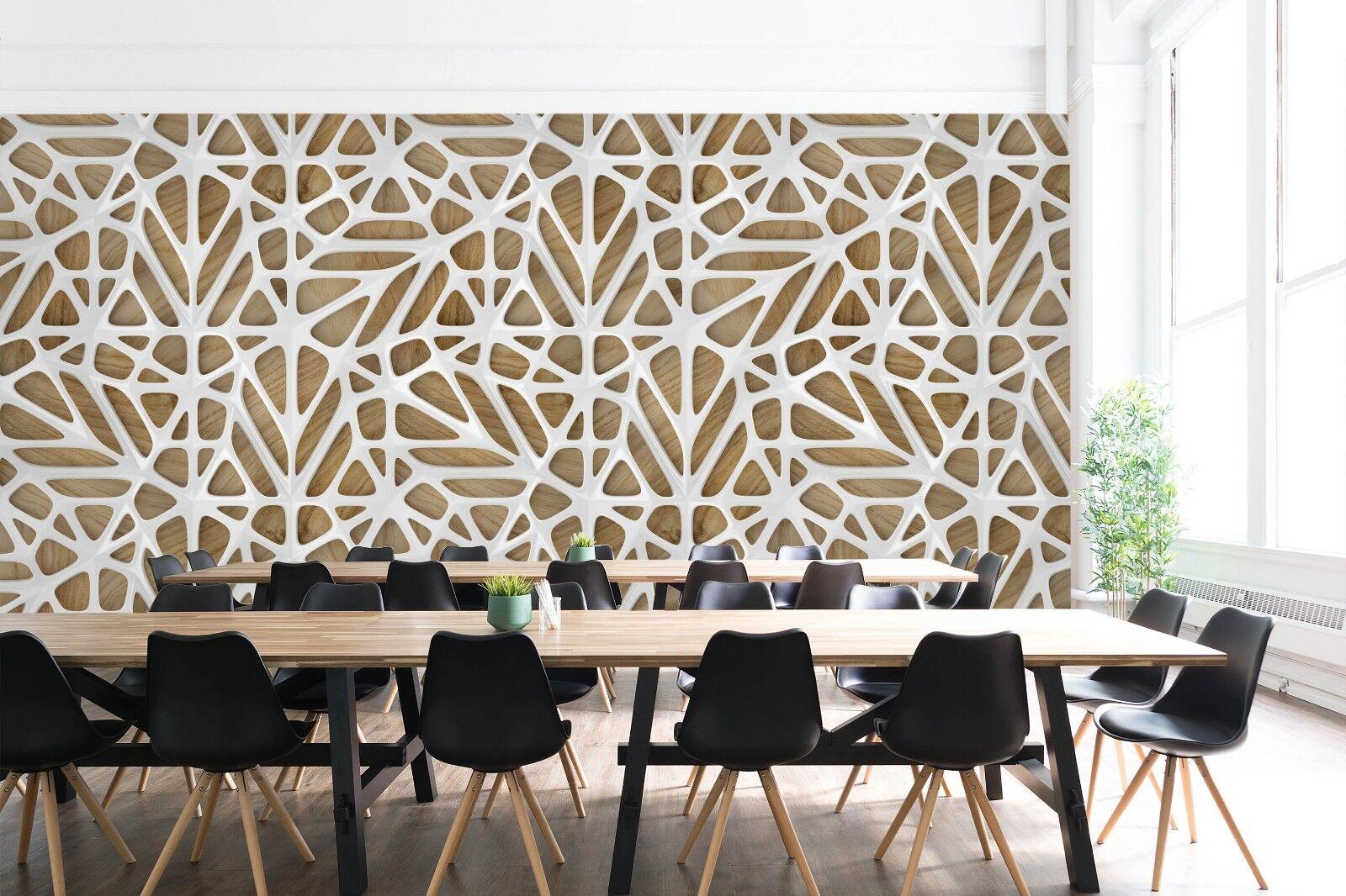 3D Hohl whitees Holz 2 Textur Fliesen Marmor Tapeten Abziehbild Tapete Wandbild