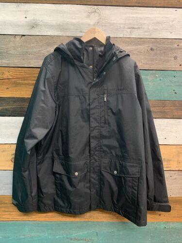 Columbia Interchange Black Winter Coat Mens Size L