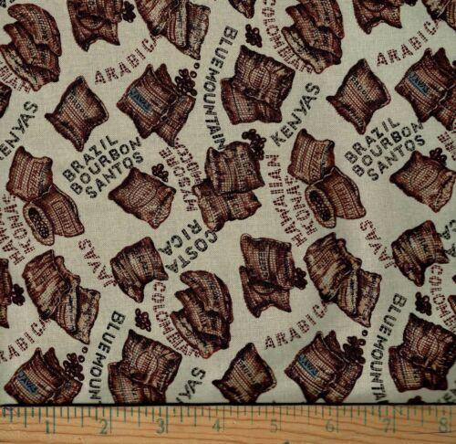 Fat Quarter 100/% Cotton Astro Textile Coffee House