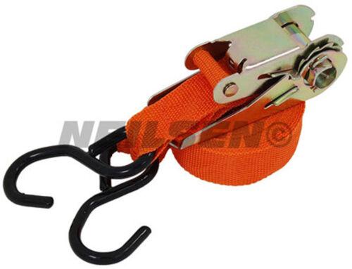 """1 /"""" X 15 Foot Ratchet Tie Down Fixing Strap"""