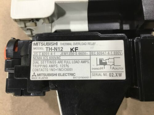 Mitsubishi S-N11 Magnetic Contactor With TH-N12KF Overload Relay #03A35
