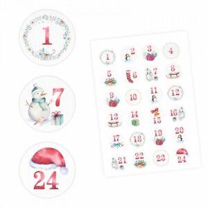 24-Adventskalender-Zahlen-Aufkleber-Aquarell-rund-4-cm-Sticker-Weihnachten
