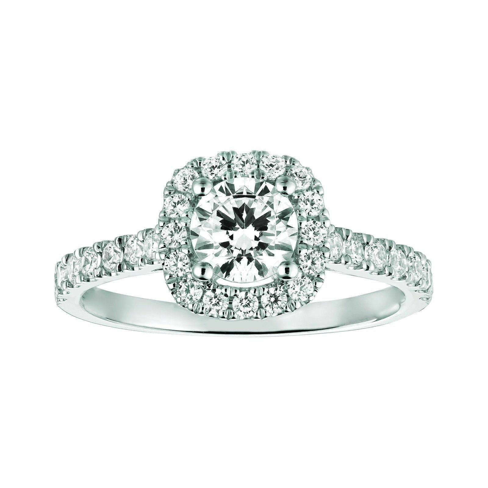 1.30 Ct VVS1 Round Cut Solitaire Diamond Wedding Ring 18K Real White gold Size 5