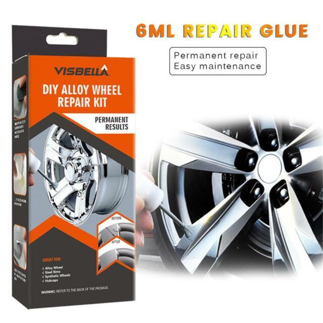 DIY Car Alloy Wheel Kerb Damage Wheel Rim Repair Kit Fix Tool Scuffs Scrape