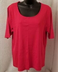 Chicos-Womens-Red-Shirt-Top-Blouse-Size-2-L