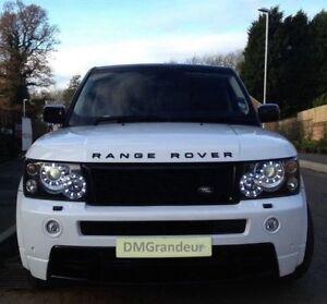 Range-Rover-Sport-Headlight-LED-Rings-Day-Time-Running-Head-Lights-Conversion