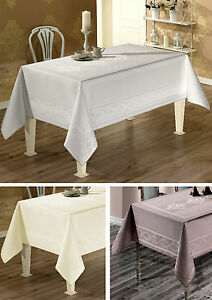 Large-Luxury-Jacquard-Tablecloth-Different-Colours-Water-Repellent-160-X-220CM