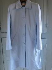 NEW M&S Ladies Ice Blue Lightweight Button Through Mac Coat UK 8-10