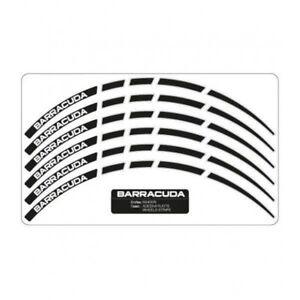 Barracuda Kit Completo Adesivi Neri Cerchi Ruote Per Tutte Le Moto Ajp Vsntausn-07212254-627619639