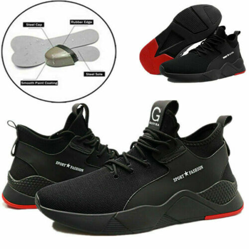 Men Safety Mesh Shoes Womens Toe Steel Lightweight Work Cap Boots Trainers Shoes