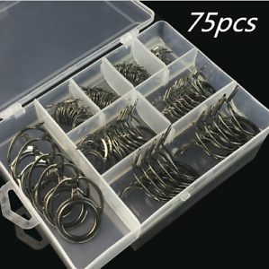 Details about 75pcsbox Ceramic Fishing Rod Pole Guides Tips Top Eye Rings Repair Kits 8 SIZES