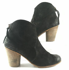 BP Trolley Black Suede Side Zip Ankle Bootie Womens Size US 7.5M $0.99 Sale