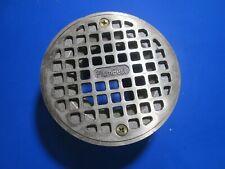 4 12 Polished Bronze Floor Drain With Strainer 2 Ips Metal Spud