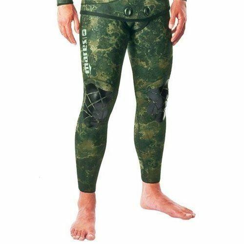 Mares Pure Instinct 3mm Spearfishing Freediving Wetsuit Pants, Green Camo, S7 XX