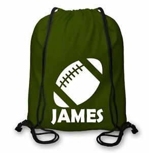 Personalised Cotton PE Kit Bag, Sporting Bag Rugby Bag Different Colour CSB105