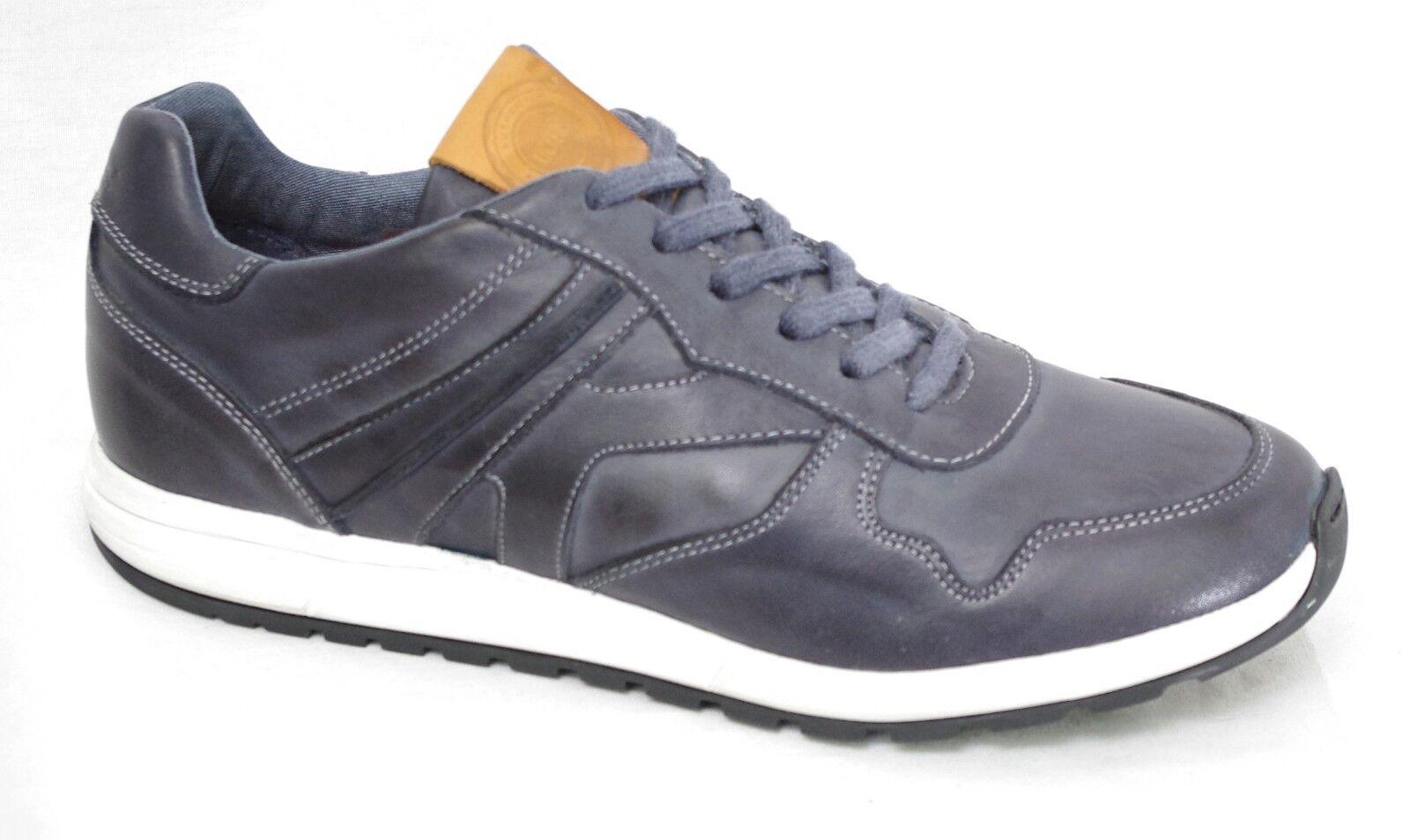 KICKERS NIELA shoes baskets cuir blue Marine homme 517480 - 10