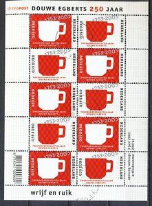 NEDERLAND-GESTEMPELD-VELLETJE-DOUWE-EGBERTS-250-JAAR-2003-Pa25c