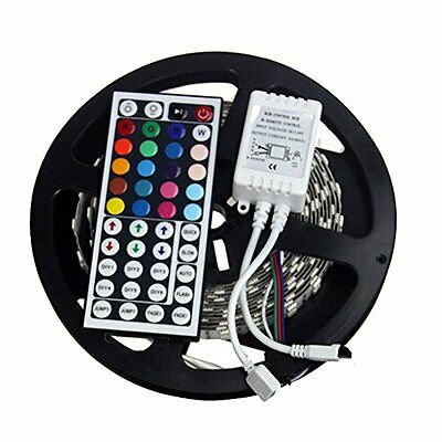 5M 500CM 5050 RGB SMD Non-Waterproof Flexible LED Strip 300LEDs+ 44Key IR Remote