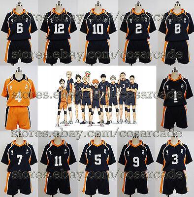 Haikyū!! Karasuno High All-NUMBER Jersey Cosplay Costume Haikyuu Haikyu Uniform