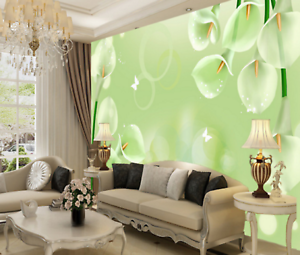 3D greene Thema blueme 455 Tapete Tapeten Mauer Foto Familie Tapete Wandgemälde