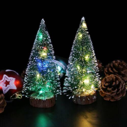 Xmas  Artificial Small Mini Christmas Tree W// LED Lights /& Ornaments Table Decor