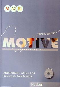 Hueber-MOTIVE-Arbeitsbuch-A1-A2-B1-Lektion-1-30-mit-MP3-CD-KOMPAKTKURS-DaF-new