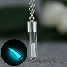UK Turquoise Glow In The Dark Silver Necklace & Pendant
