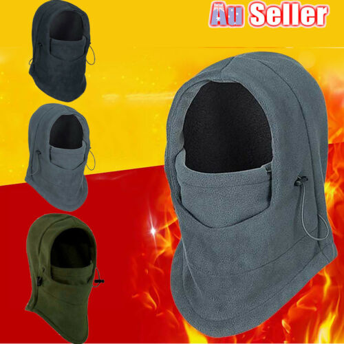 Uni Thermal Fleece Balaclava Hood Cap Winter Ski Bike Mask Hat Headscarf Warm