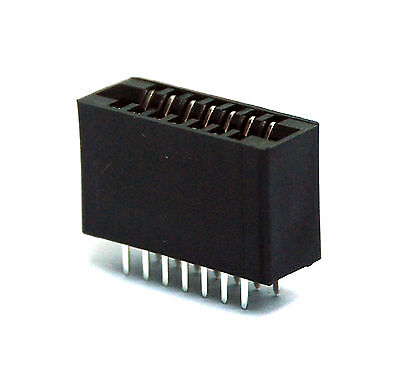 """10pc IDC Cable type Card Edge Slot Socket Connector 5x2P 10P 2.54mm 0.1/"""" 1A"""