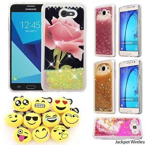 half off f80c7 5666c Details about For Samsung Galaxy J7 Sky Pro / J7 Perx / J7 V Liquid Glitter  Protector Case