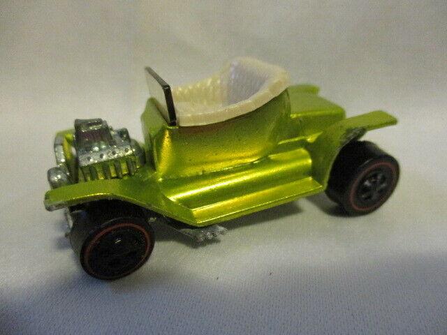 HOT WHEELS Redline Hot Heap 1968 Lime Green w Cream Seat Good Condition