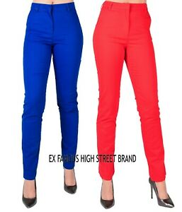 Women-Ladies-New-Ex-M-amp-S-Collection-Straight-Leg-Cotton-Rich-Chino-Jeans-UK8-22