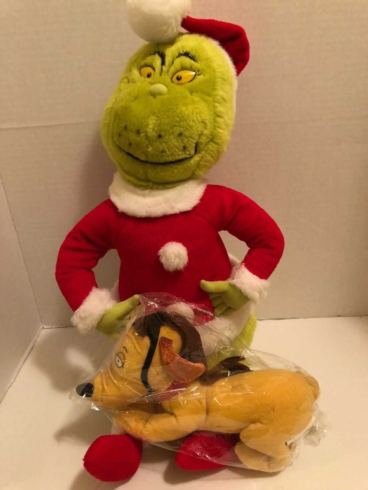 Dr. Seuss Green Grinch Stole Christmas  Plush 20  Doll 20 & 7   Max Reindeer