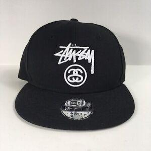 Stussy-Logo-New-Era-Black-Snapback-Adjustable-Hat-Youth-Size
