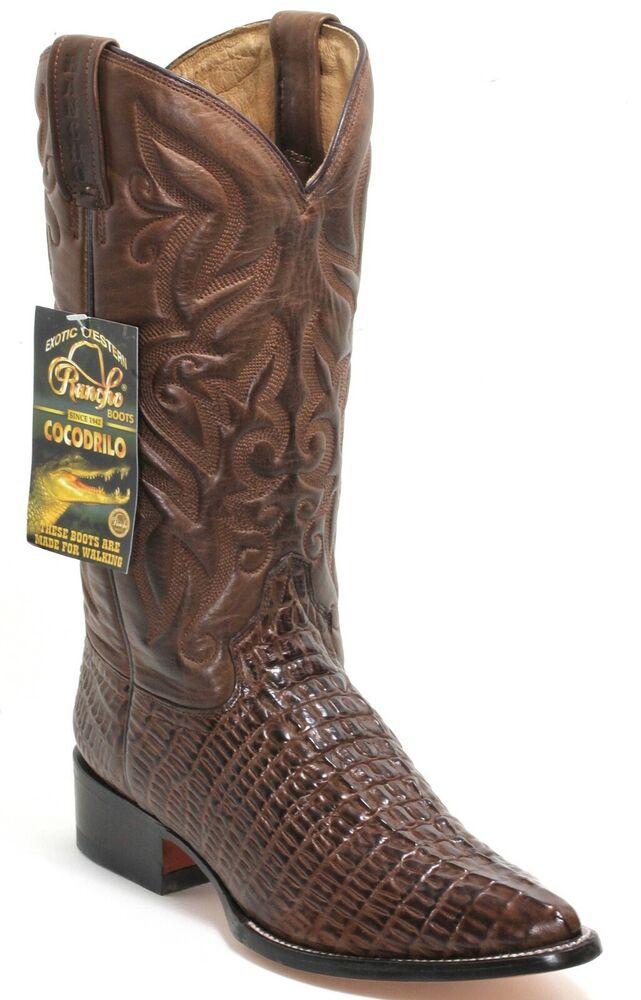 12 Bottes De Cowboy Western Texas Broderie Catalan Style Crocodile 43