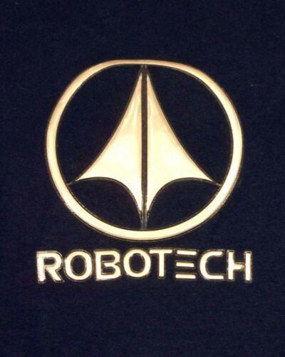 vtg Late 90s ODM Robotech T-shirt 3D Plastic Metal