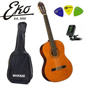 Eko Cs10 (natural) Chitarra Guitar acustica Classica 4/4 Entry Level Bag