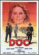 DOC MANIFESTO CINEMA FILM FAYE DUNAWAY WESTERN COWBOYS GUN 1971 MOVIE POSTER 4F