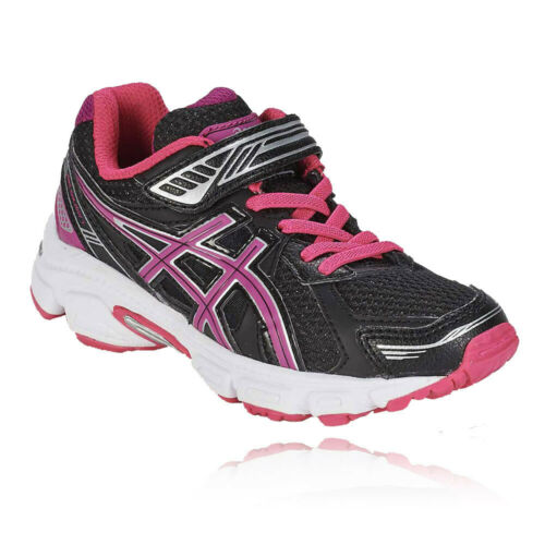 Asics Pre Galaxy 7 PS Junior Black Cushioned Running Sports Shoes Trainers
