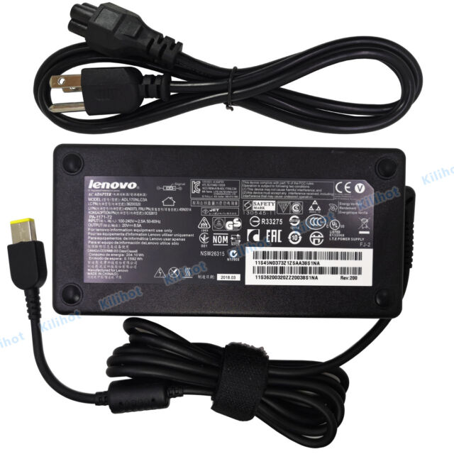 New Genuine Lenovo ThinkPad P51 Notebook 20V 8.5A 170W Power AC Adapter Charger