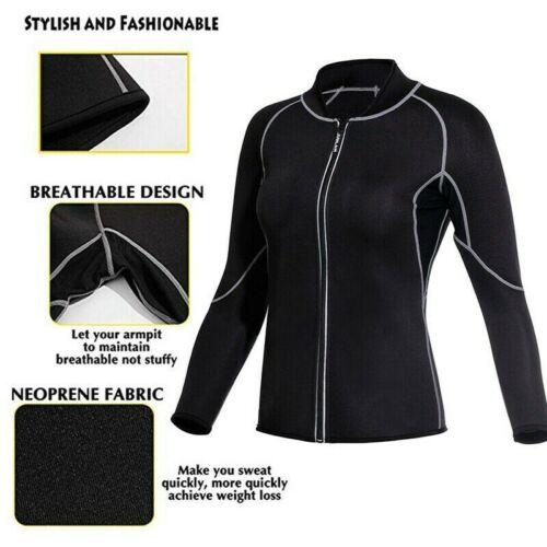 US Neoprene Sport Body Shaper Long Sleeve Waist Trainer Underbust Shapewear Top