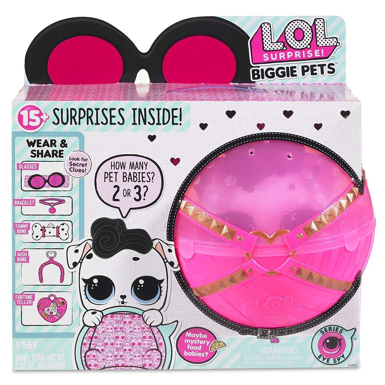NUEVO lol sorpresa  Biggie Pet dollmation Perro ojo espía serie 4 L. o.l  VHTF