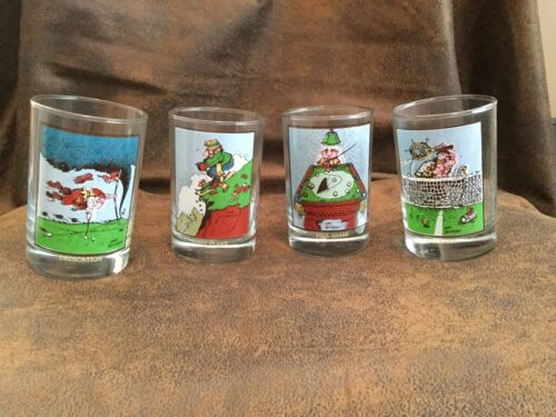 Vintage 1982 Arby's Collectors Series Glass by Gary Patterson Set of 4