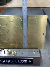 X Large Hexagon Pattern Master Template Brass Engraving For New Hermes Font Tray