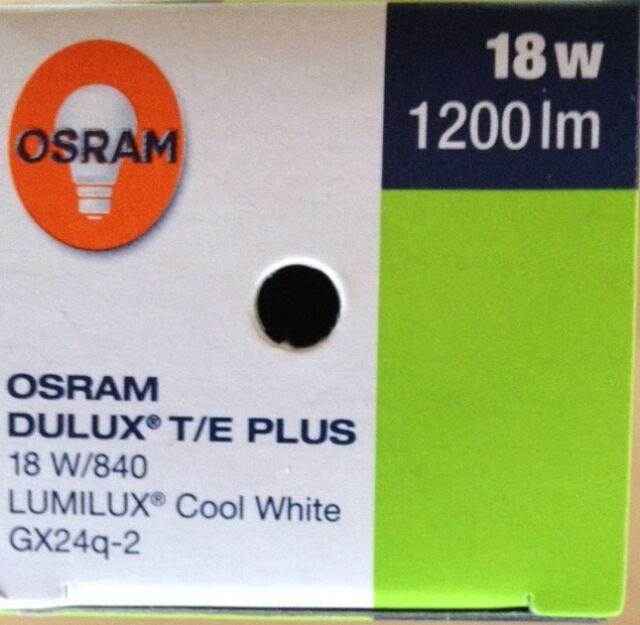 MwSt !!!! OSRAM Dulux T//E 42W Plus //830//4P//GX24q-4 Warm Weiß neu inkl